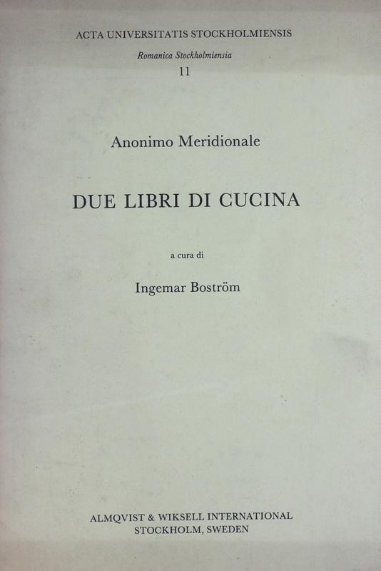 Due libri di cucina rete italiana di cultura popolare for Libri di cucina da regalare