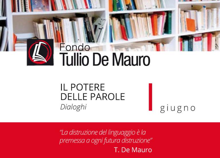 Le attività di giugno al Fondo Tullio De Mauro